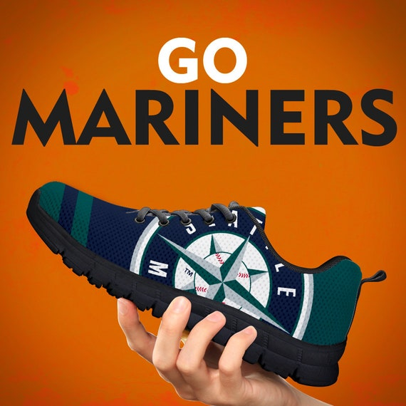 Collector Custom Running Seattle Gift Womens White Gift Sizes Kids Shoes Black Trainers Gift Sports Sneakers Mariners Mens qZBP1
