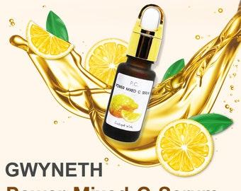 Mixed Vitamin C Serum Facial Anti Aging Moisturizing Skin Care Anti Wrinkle Natural Rejuvenating Treatment by Gwyneth