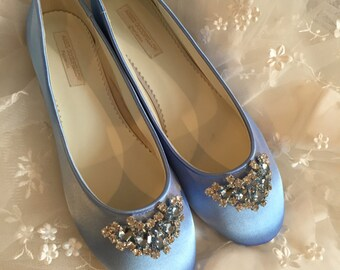 Cinderella Shoes   Shoes   Wedding Shoes   Blue Wedding Shoes   Blue Flats    Blue Wedding Flats   Choose From Over 150 Colors   Ballet