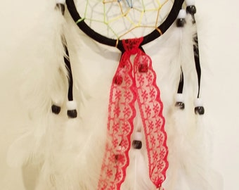Red and White Dreamcatcher