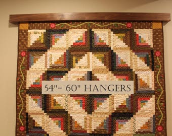 "Quilt wall hanger / 54""-60"" The modern knob-less for quilts, rug, or textiles"