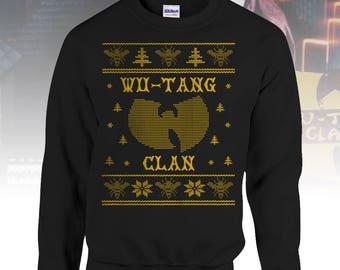 Ugly Wu Tang Christmas Sweater Wutang Clan Hip Hop Gift 36 Chambers Killer Bees Rap Music CREAM Unisex Crewneck Mens Womens Fashion