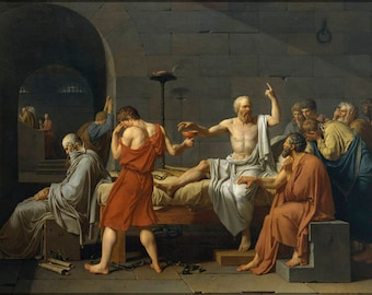 Poster, Many Sizes Available; Death Of Socrates (1787)