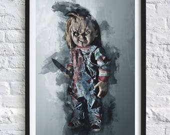 Childs Play - Chucky 'Watercolor' A4 Print