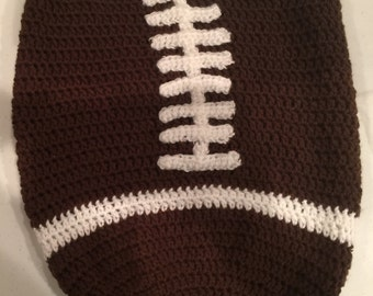 Crochet Football Hat - Baby Football Hat - Baby Football Beanie - Newborn Cocoon - Baby Cocoon and Hat Set -Baby Boy Gift -Infant Photo Prop