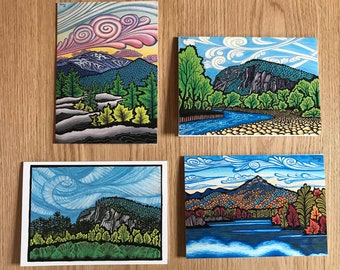 "Greeting Cards Set of Eight 5""x7"" White Mountains Collection"