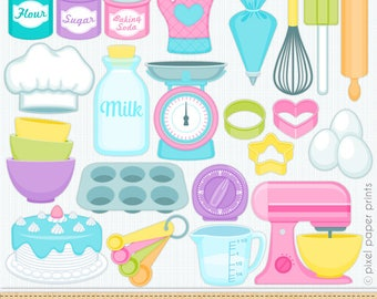 Kitchen Clip Art - Baking clipart -commercial use