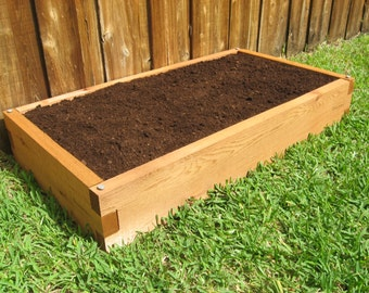 Ordinaire 2x4 Cedar Raised Garden Bed   Tool Free And Expandable