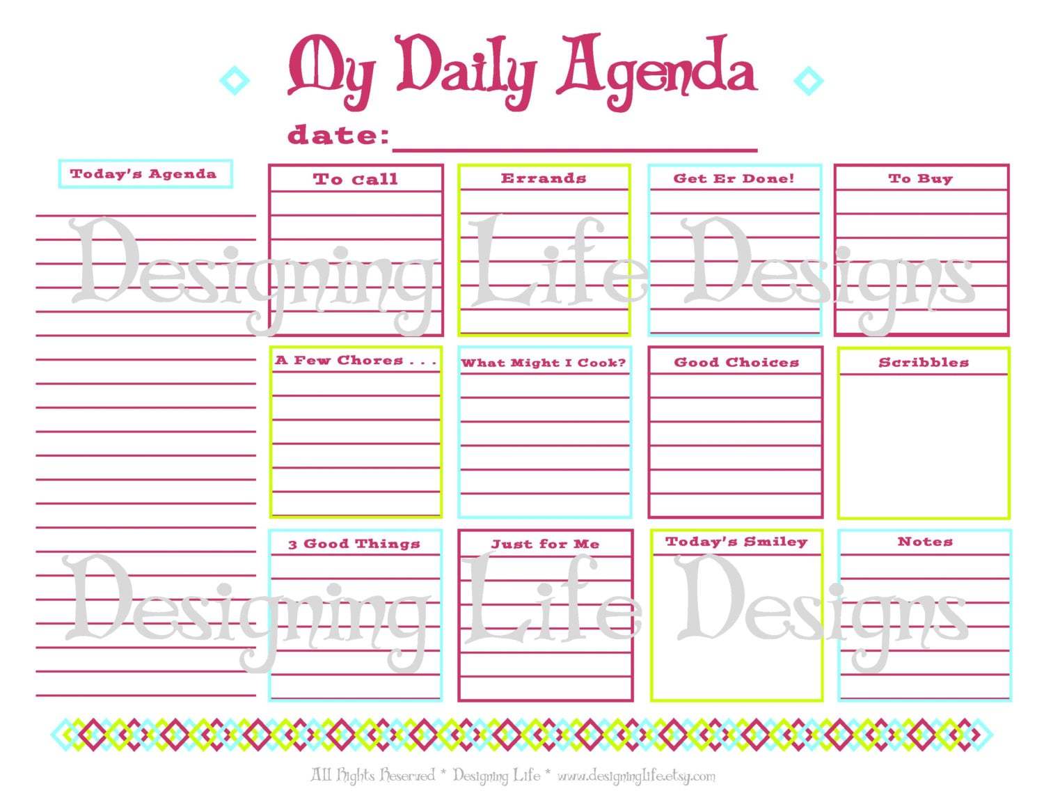 🔎zoom  Daily Agenda Template