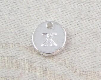 1 or 5, Initial Charm, Charm Bracelet, Lower Case Letter, Silver Letter, Initial Pendant, Alphabet Charm, Lower Case Charm, ALF021x-PL