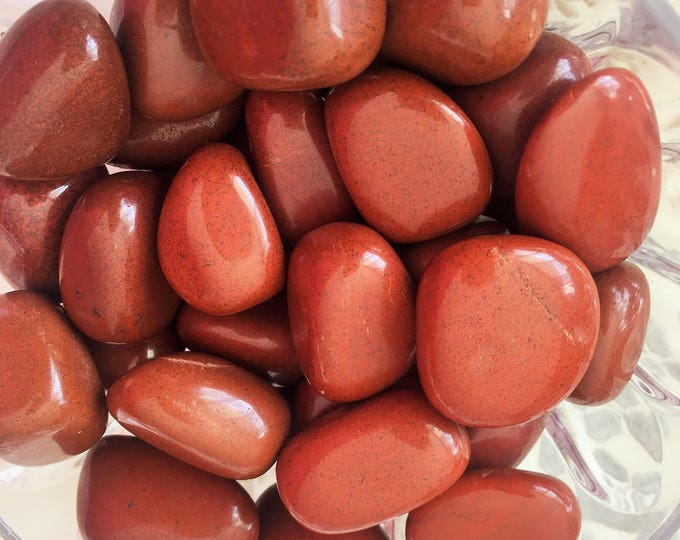 Red Jasper Healing Crystals and Stones Perfect for Crystal Grids, Meditation, Chakras
