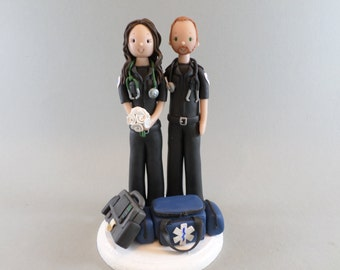 Cake Topper - Personalized Paramedic Wedding