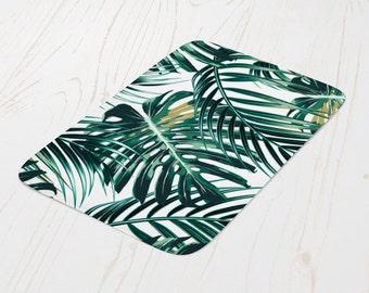 Palm Frond Palm Leaf Jungle Bath Mat, Tropical Bathroom Decor, Beach Bathroom Accessories, Jungle Bath Mat,