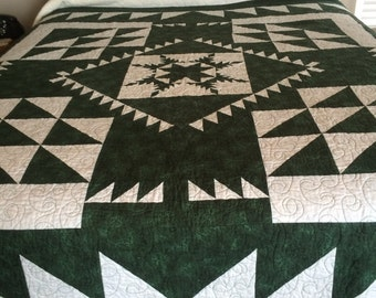 Feathered Star Quilt 76 in x 76 in quilt