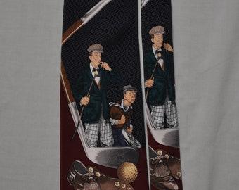 Men's Golfing Necktie - Saturday Evening Post - 100% Silk