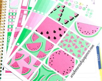 Watermelon Weekly Planner Kit - Watermelon Stickers - Planner Stickers - Weekly Planner Stickers - Summer Planner Stickers