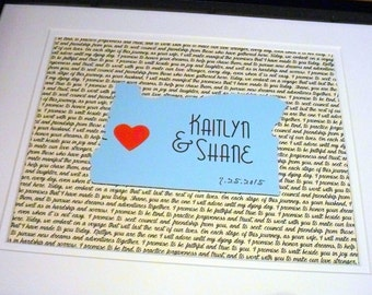 Where We Met Map, State Art, Paper Anniversary Gift, Personalized Wedding Gifts, 11X14 State Love Wedding Gift, Anniversary Gift For Him