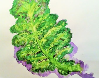 Kale || Kitchen Art ||  Cooking || Vegetables  || Housewarming || Art print download