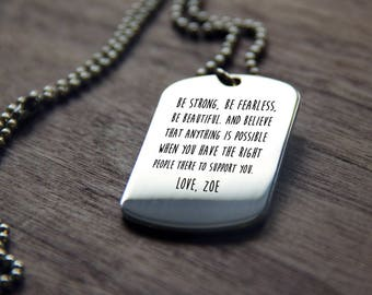 Personalized Dog Tag Necklace, Custom Mens Jewelry, Personalized Daddy Necklace Fathers Day Gift, FREE SHIPPING