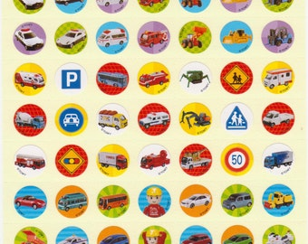Car Stickers - Tomica Car and Truck Stickers - Kawaii Japanese Stickers - Reference A2387-90