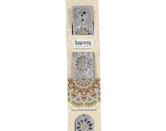Silver Karma Incense Holder