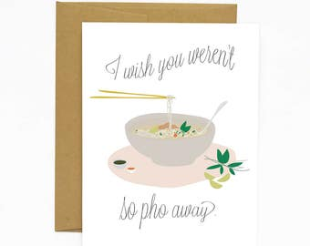 Pho Away - Greeting Card