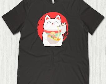 Ramen Cat, Ramen Shirt, Ramen Gifts, Japanese Cat Shirt, Japanese Ramen, Cat Gifts, Ramen T-Shirt, Ramen Cat Shirt