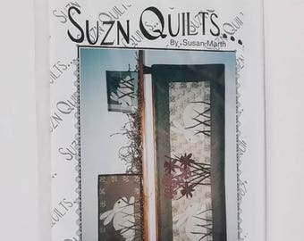 Sewing Pattern Quilt Packet Bunnies in the Grass Suzn Quilts By Susan Marth #110 51x18 Table Runner Placemat Wall Hanging From 2004