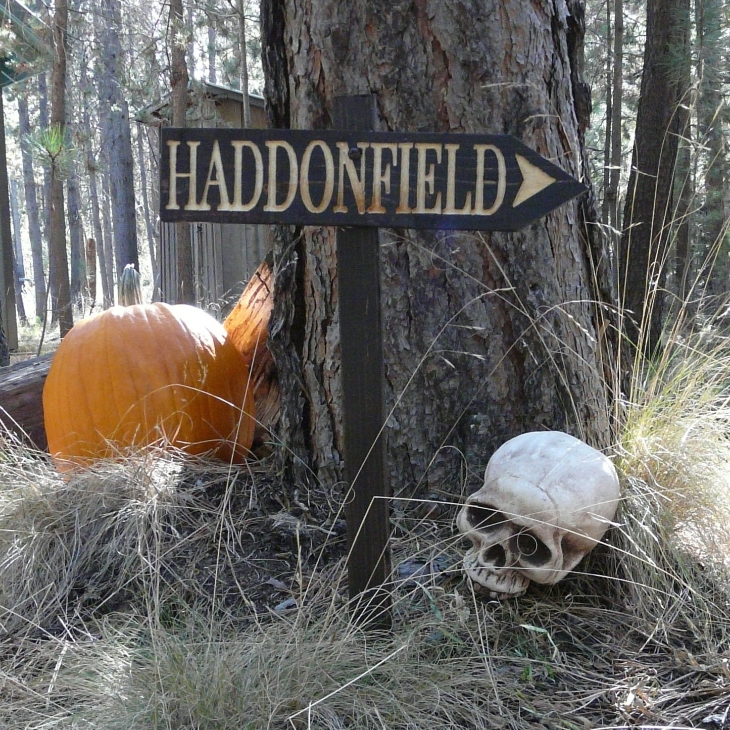 Haddonfield Halloween Lawn Ornament Sign Mike Myers Horror