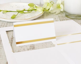 Classic Gold Foil Place Cards, Printable Card Stock for Place Cards & Escort Cards | REAL GOLD FOIL | 5 sheets