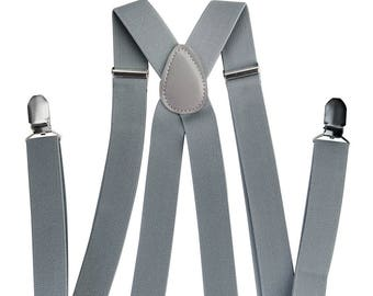 Axy Mens Grey braces + grey bow tie-wedding-Groomsmen-photo shoot-Birthday party
