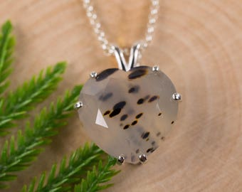 Montana Agate Sterling Silver Pendant