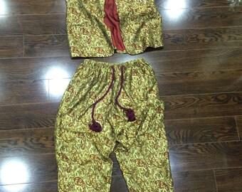 Printed Pant Set