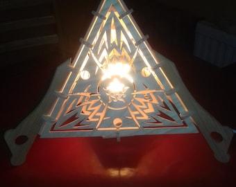 handmade pyramid lamp