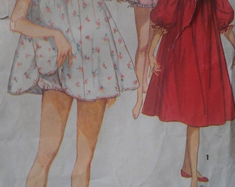 Vintage 50s Babydoll Trapeze Pajamas Nightgown Lingerie Panties Wounded Bird Sewing Pattern 1102 B32