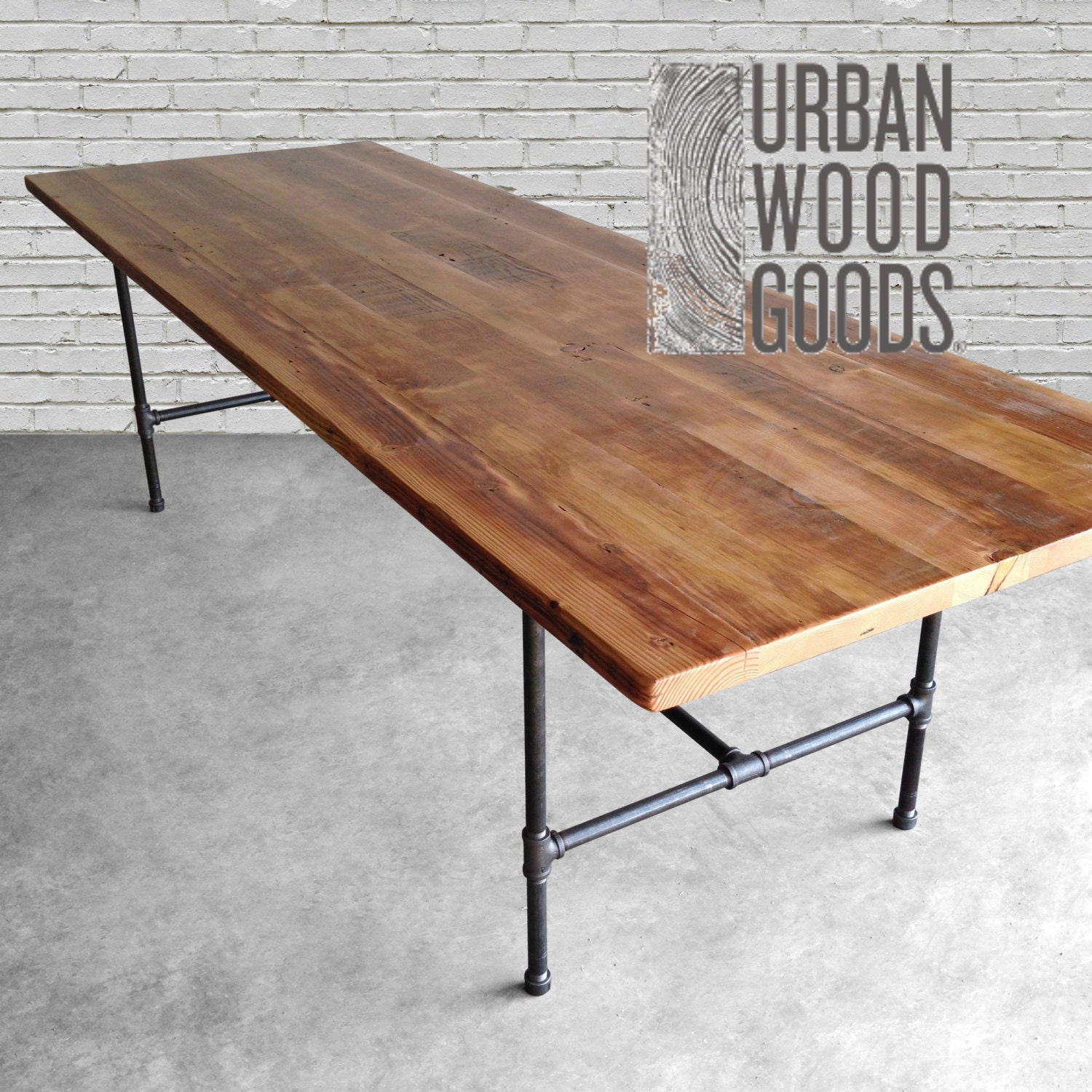 zoom Wood Dining Room Table with reclaimed