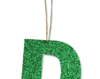Glitter Alphabet Ornaments, Gift Tags
