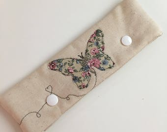 Vintage style Butterfly applique DPN case / cosy
