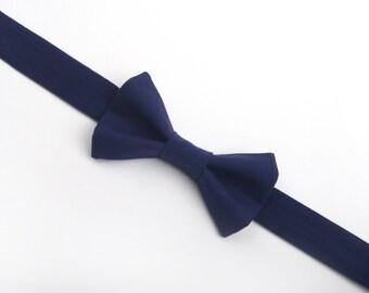 Navy Blue bow tie, boys bow tie, men's bow tie, adult bow tie, child bow tie, baby bow tie, blue bow tie, navy bow tie, dark blue bow tie