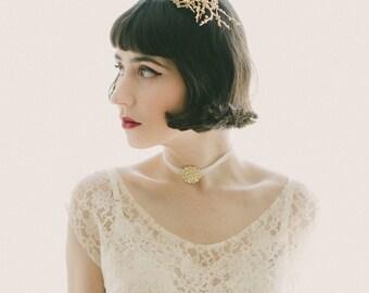 Gold or Silver twig comb, Gold bridal comb, Silver headpiece, Woodland chic comb, Bridal hair comb, Gold wired headpiece, Silver hair comb