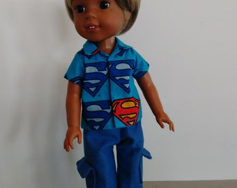 "14.5"" boy doll pant and shirt set"