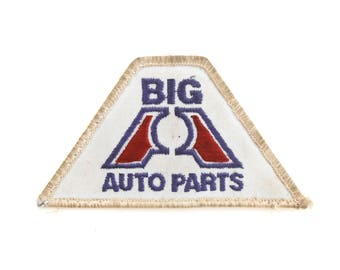 """Vintage Big A Auto Parts Car Repair Garage Embroidered Patch 4.5"""" x 2.5"""""""
