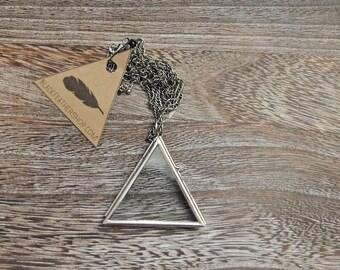 Glass Triangle Locket