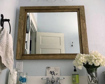 rustic vanity mirrors for bathroom.  Bathroom Mirror Etsy