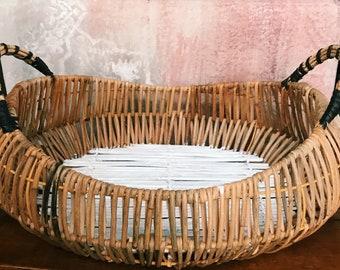 Beautiful bohemian storage basket