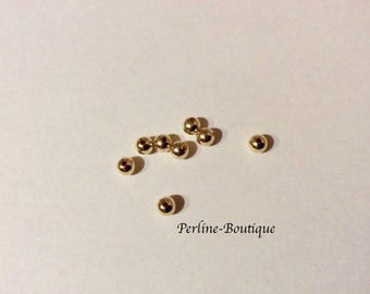 8 beads round 4mm 14 k gold filled