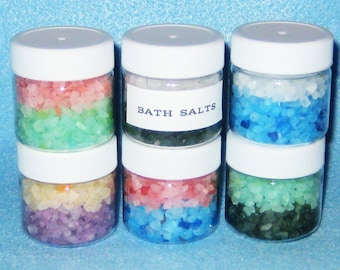 Luxurious Bath Salt Favors- Soak Away Stress-Dead Sea Salts Favors.