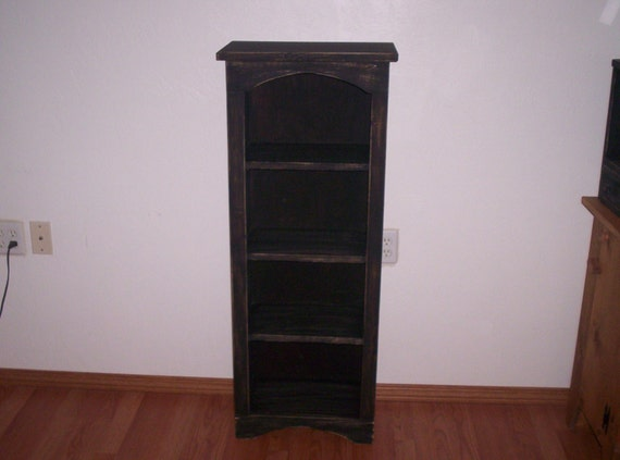 Large Chimney Bookcase Tall Wood Cabinet