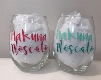 Wine glass, wine, Hakuna Moscato