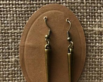 Antiqued Brass Boho Earrings